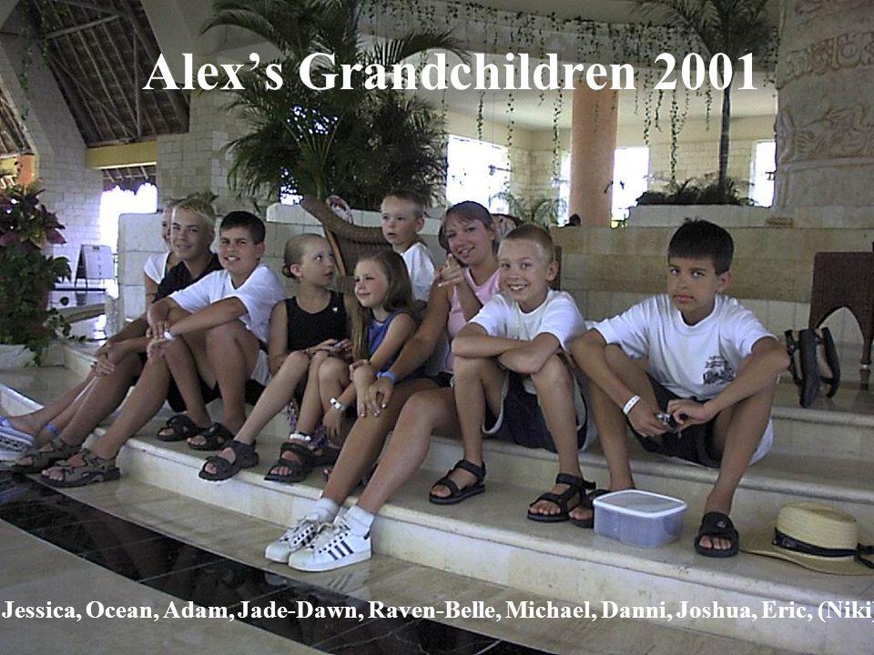 Alexs Grandchildren 2001 Jessica, Ocean, Adam, Jade-Dawn, Raven-Belle, Michael, Danni, Joshua, Eric, (Niki)