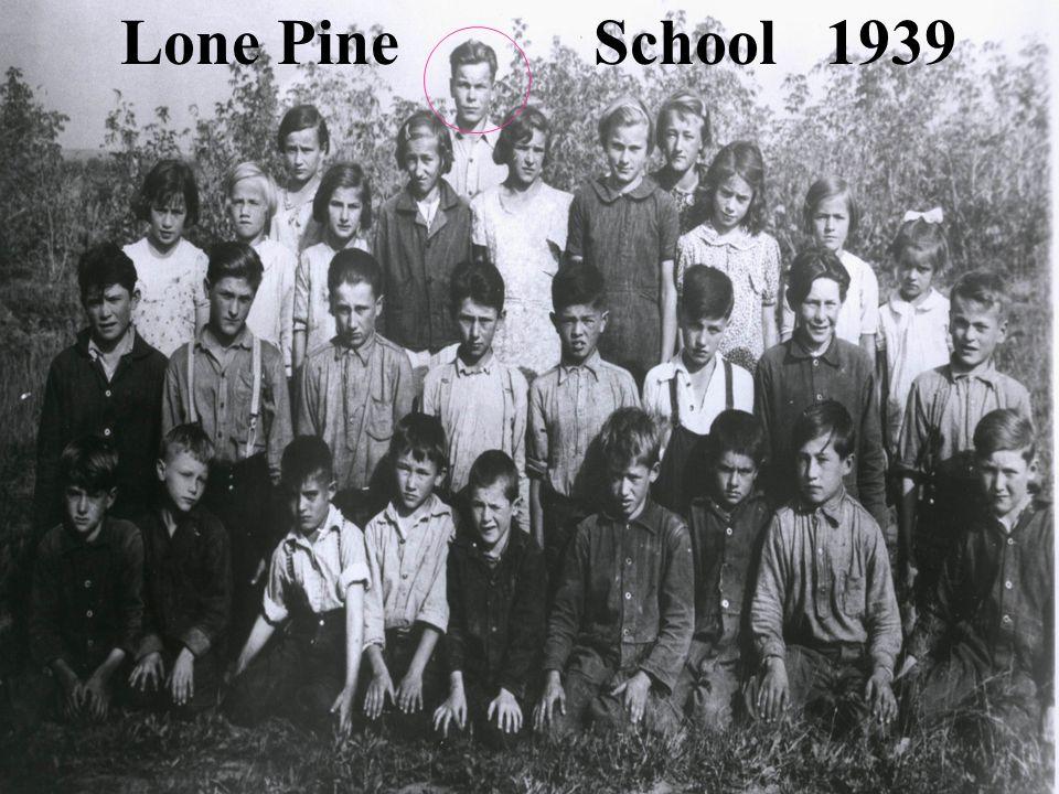 Lone Pine School 1939