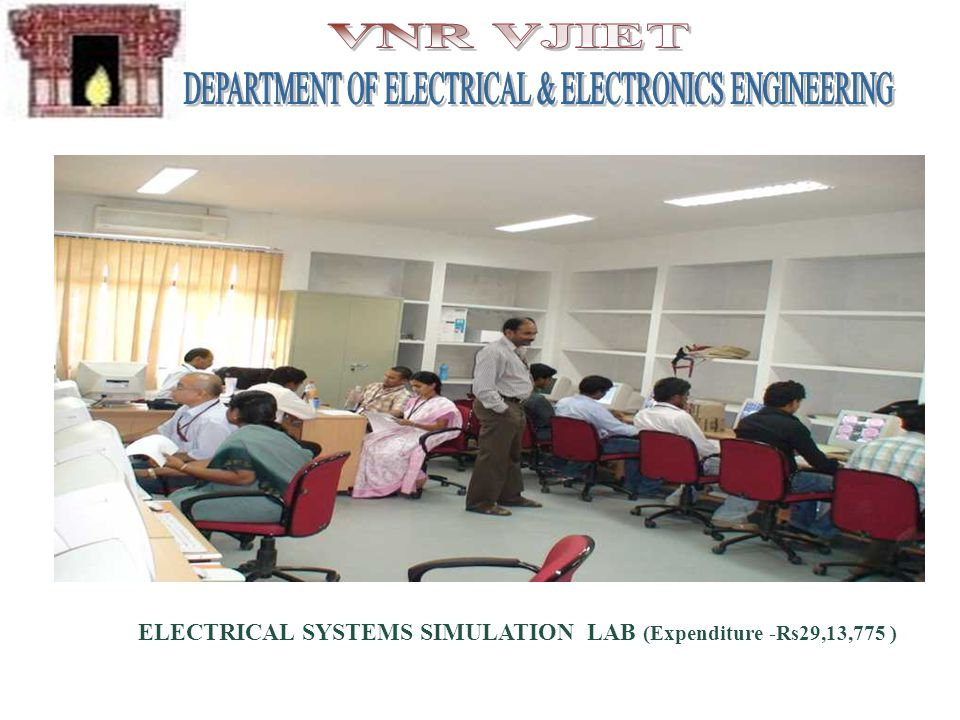ELECTRICAL SYSTEMS SIMULATION LAB (Expenditure -Rs29,13,775 )