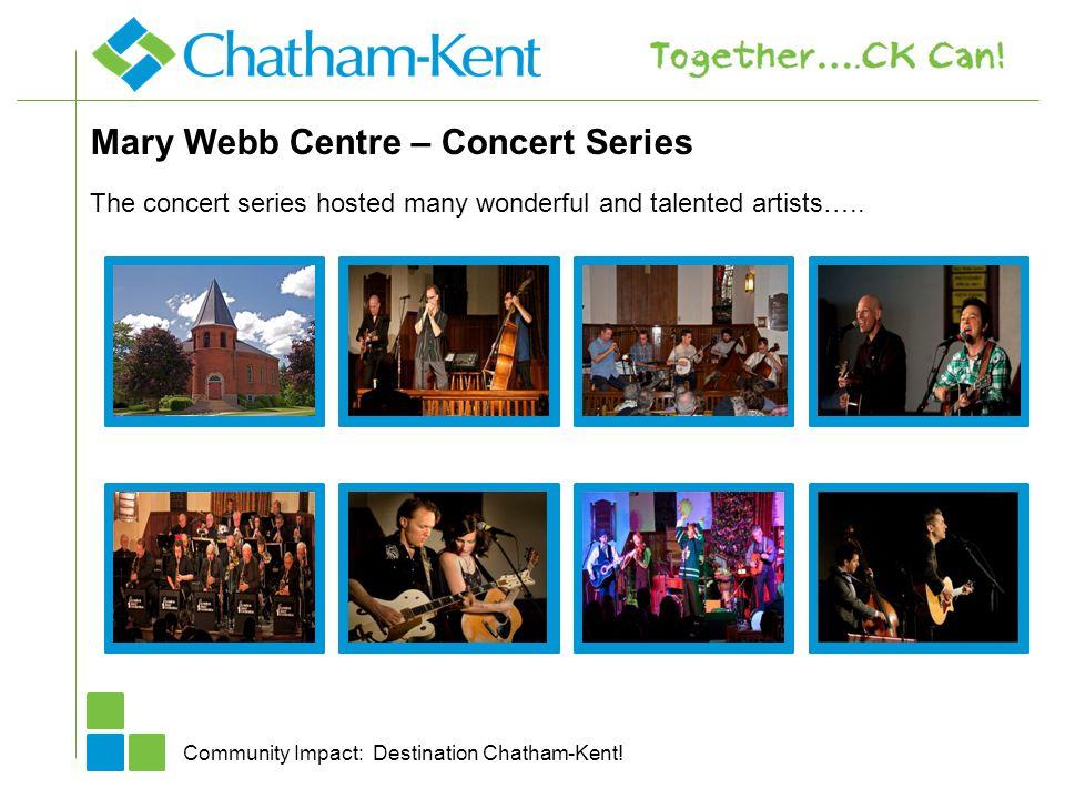 Mary Webb Centre – Concert Series Community Impact: Destination Chatham-Kent.