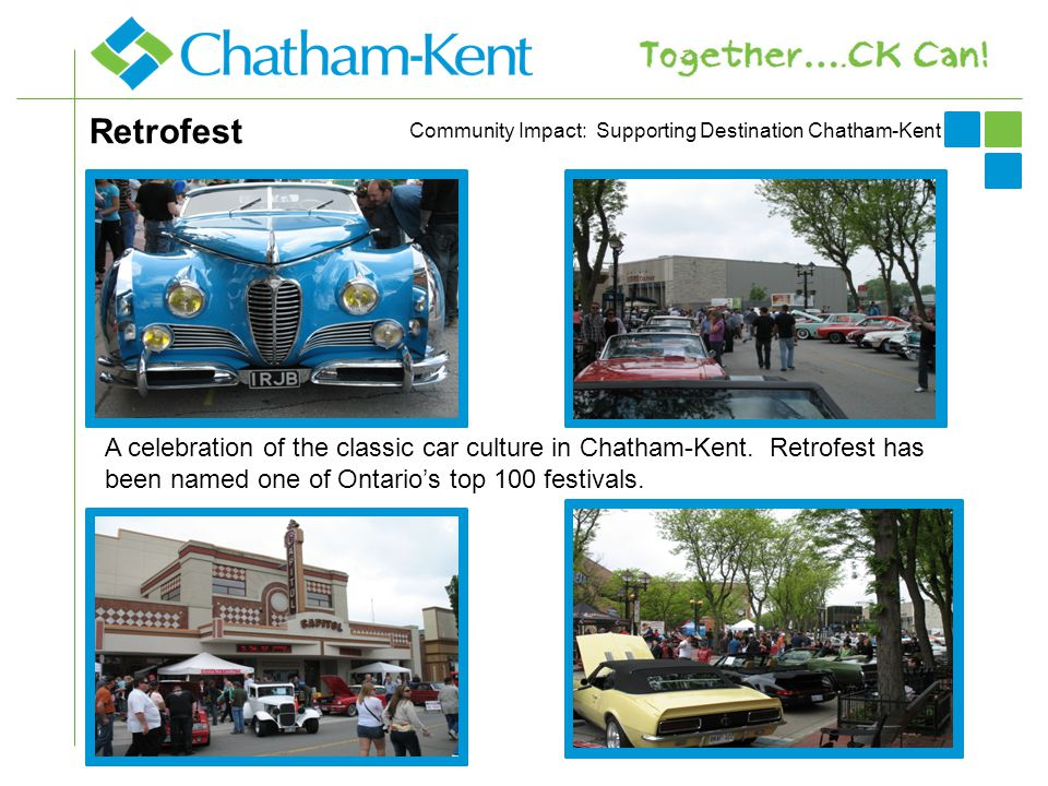 Retrofest A celebration of the classic car culture in Chatham-Kent.