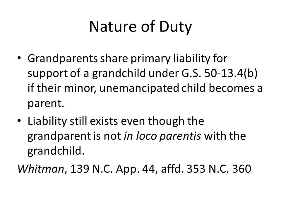 Termination of duty - Emancipation Complete emancipation occurs by operation of law when the parent abandons or fails to support the child, only as to the parents rights; the parent is not freed of his parental obligations.
