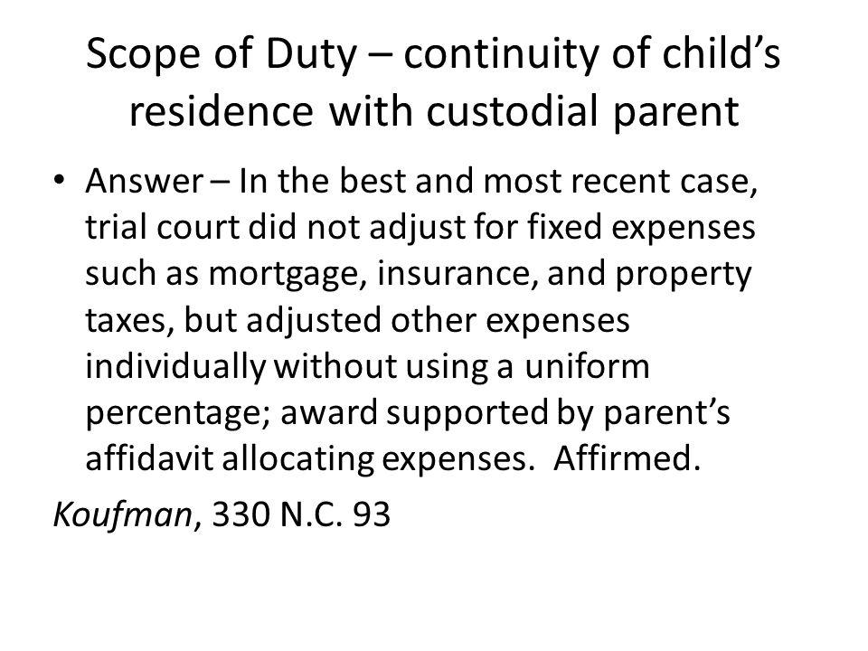 Termination of duty - Emancipation 1979 statutory amendment to G.S.