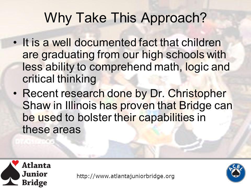 http://www.atlantajuniorbridge.org Why Take This Approach.