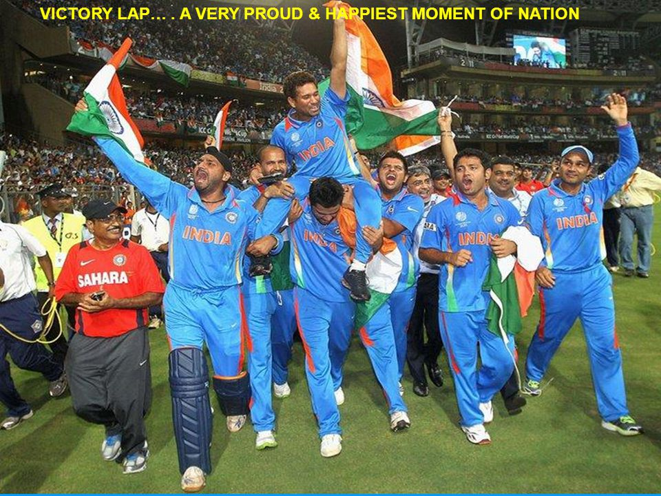 VICTORY LAP…. A VERY PROUD & HAPPIEST MOMENT OF NATION