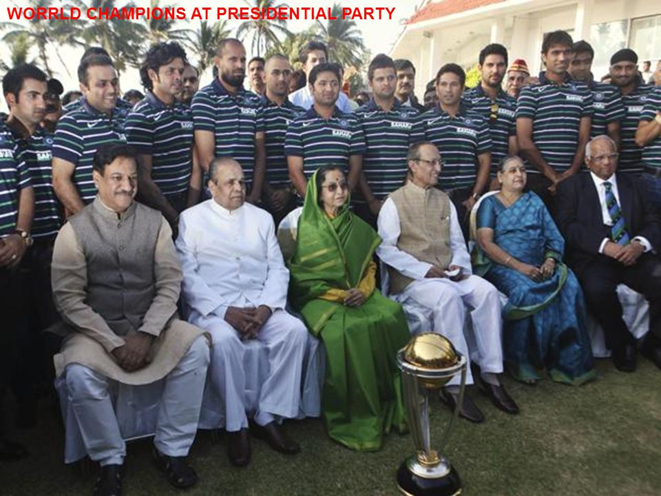 WORRLD CHAMPIONS AT PRESIDENTIAL PARTY
