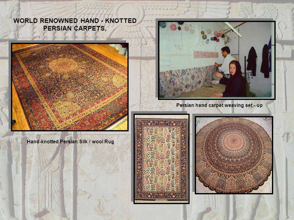 Hand-knotted Persian Silk / wool Rug Persian hand carpet weaving set - up WORLD RENOWNED HAND - KNOTTED PERSIAN CARPETS,
