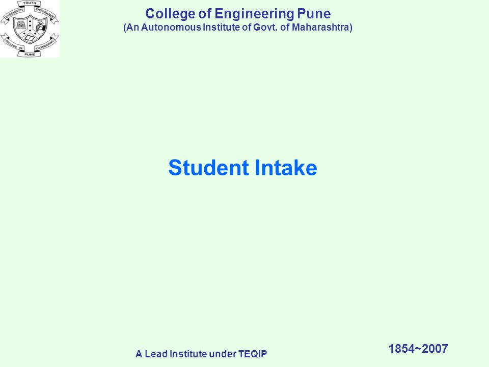 College of Engineering Pune (An Autonomous Institute of Govt.