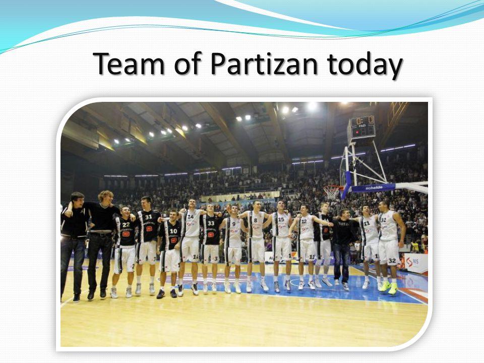 Team of Partizan today