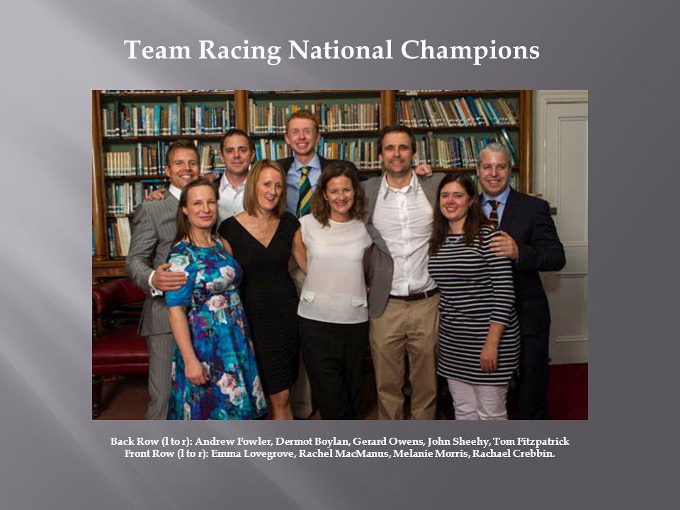 Back Row (l to r): Andrew Fowler, Dermot Boylan, Gerard Owens, John Sheehy, Tom Fitzpatrick Front Row (l to r): Emma Lovegrove, Rachel MacManus, Melanie Morris, Rachael Crebbin.