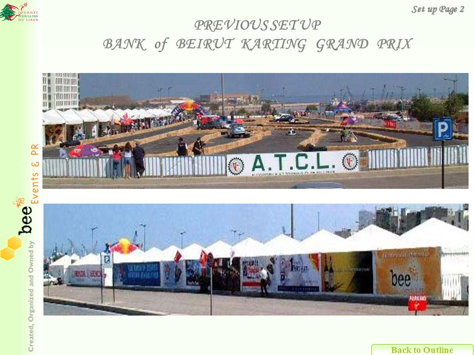 PREVIOUS SET UP BANK of BEIRUT KARTING GRAND PRIX Back to Outline Set up Page 2