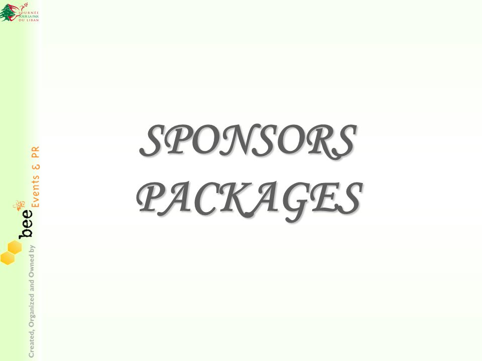 SPONSORS PACKAGES