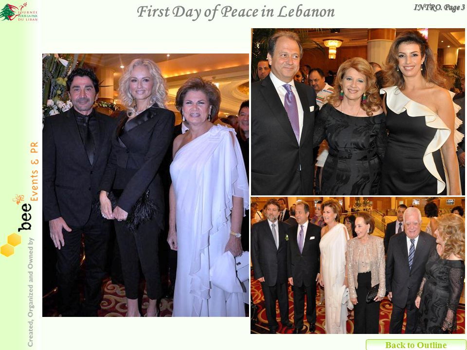 Back to Outline First Day of Peace in Lebanon INTRO. Page 3