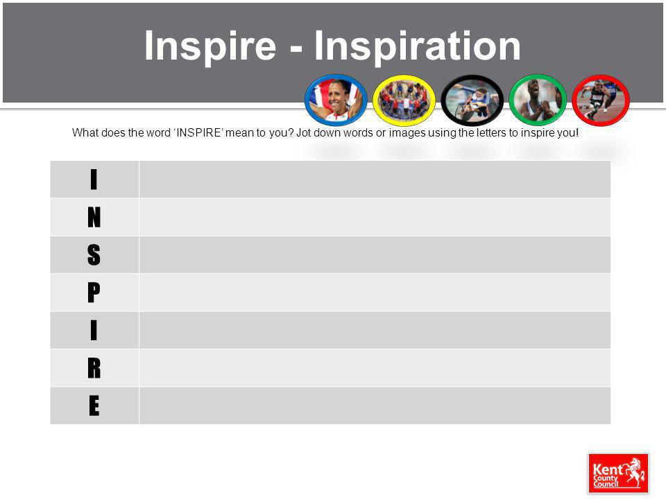 Inspire - Inspiration What does the word INSPIRE mean to you.