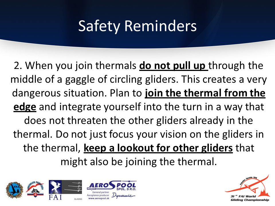 Safety Reminders 2.