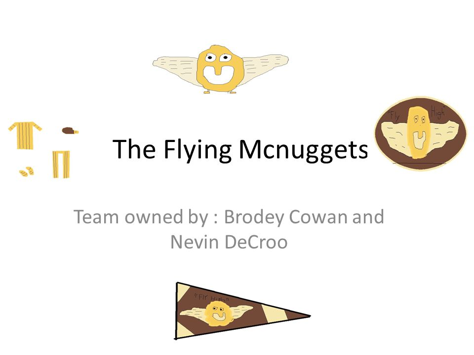 The Flying Mcnuggets Team owned by : Brodey Cowan and Nevin DeCroo