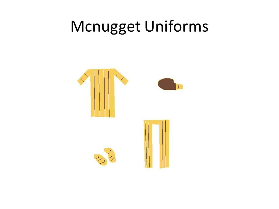 Mcnugget Uniforms