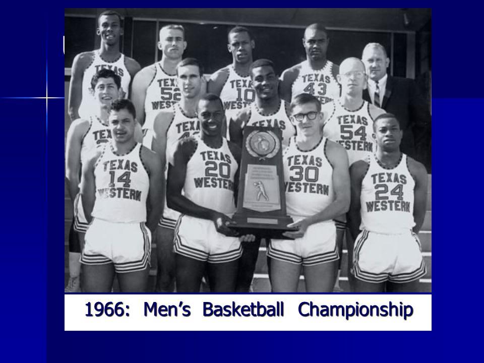 UTEP History: 1966: Mens Basketball Championship