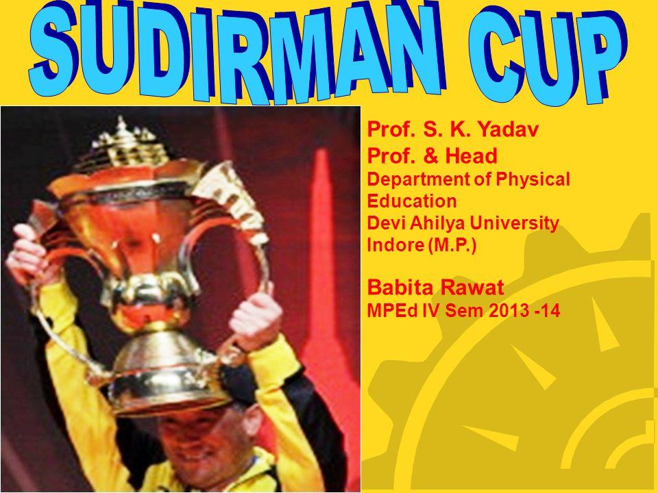 Prof. S. K. Yadav Prof. & Head Department of Physical Education Devi Ahilya University Indore (M.P.) Babita Rawat MPEd IV Sem 2013 -14