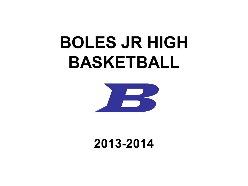 BOLES JR HIGH BASKETBALL B 2013-2014