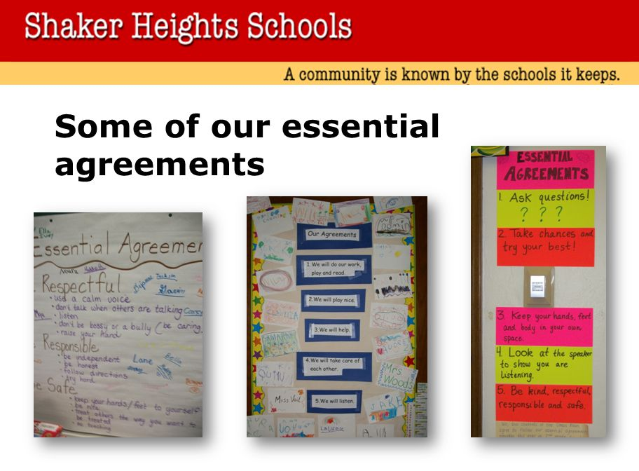Some of our essential agreements