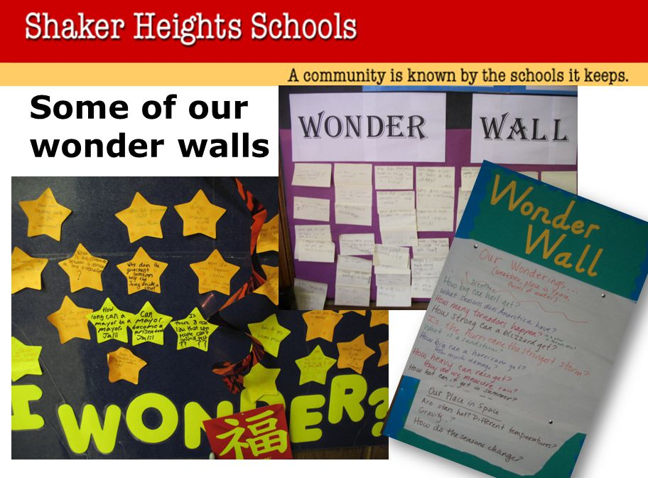 Some of our wonder walls