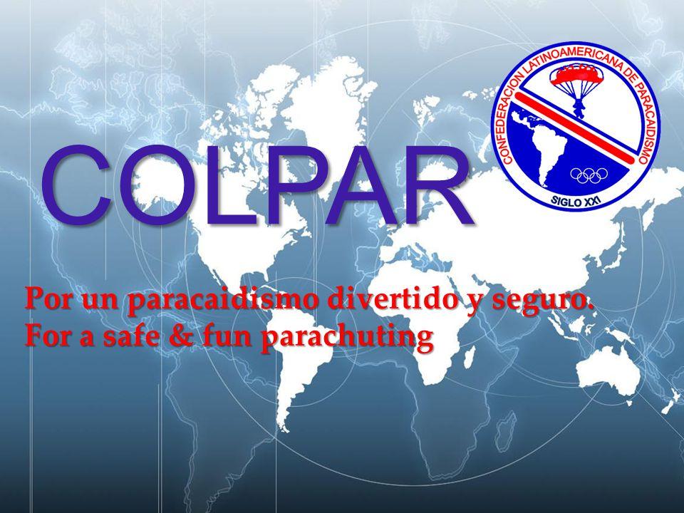 { COLPAR Por un paracaidismo divertido y seguro. For a safe & fun parachuting