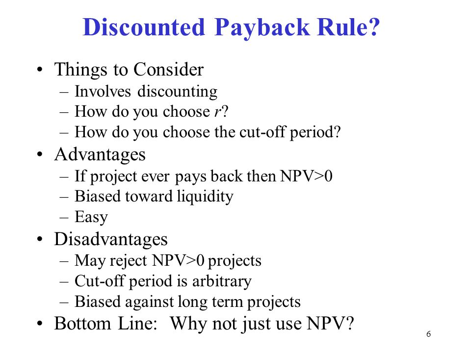 26 Capital Rationing NPV>0 then accept, is based on unlimited capital NPV is still the best criteria but we need to ration Profitability Index is NPV per investment dollar Order the projects by PI –Choose projects until PI<0 or you run out of money