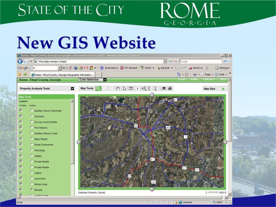 New GIS Website