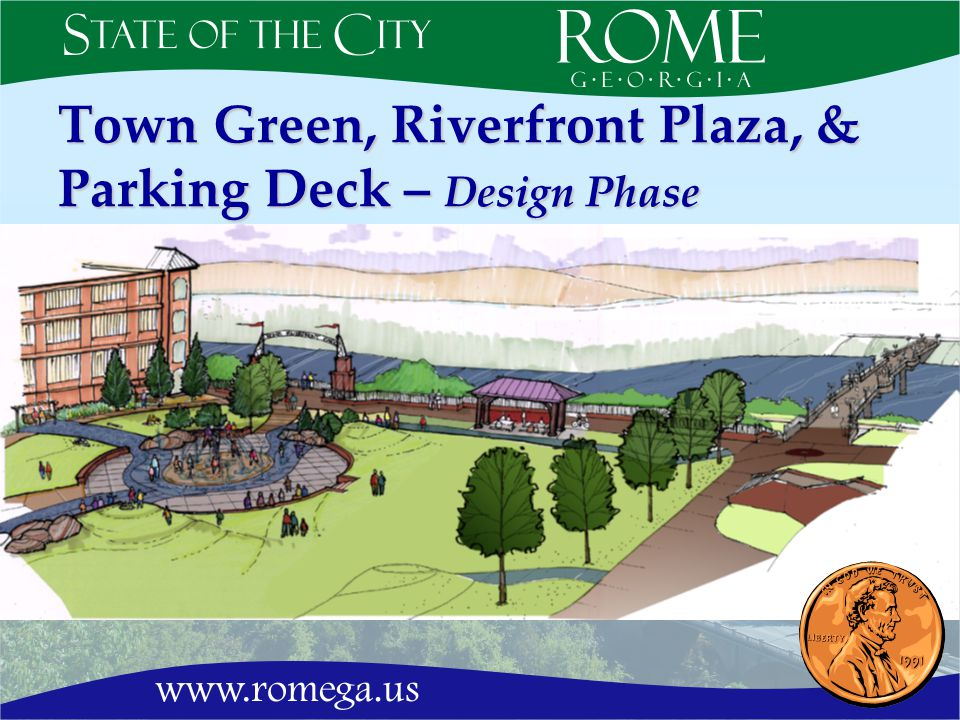 Town Green, Riverfront Plaza, & Parking Deck – Design Phase