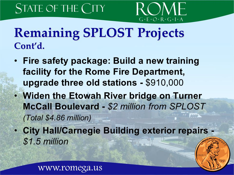 Remaining SPLOST Projects Contd.