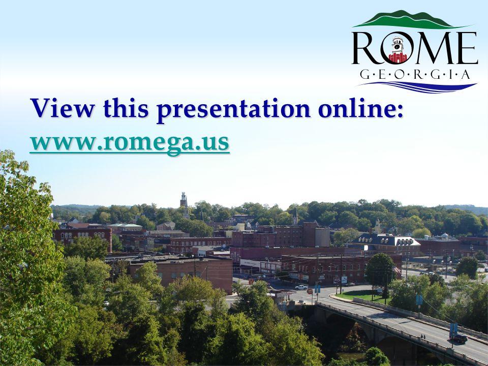 View this presentation online: www.romega.us www.romega.us