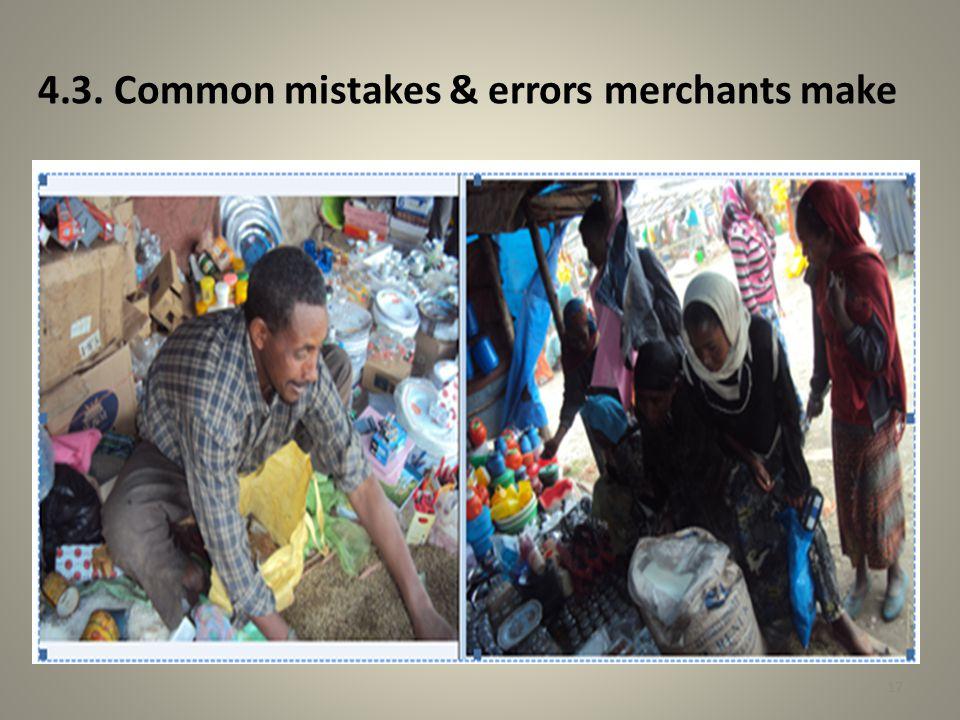 4.3. Common mistakes & errors merchants make 17
