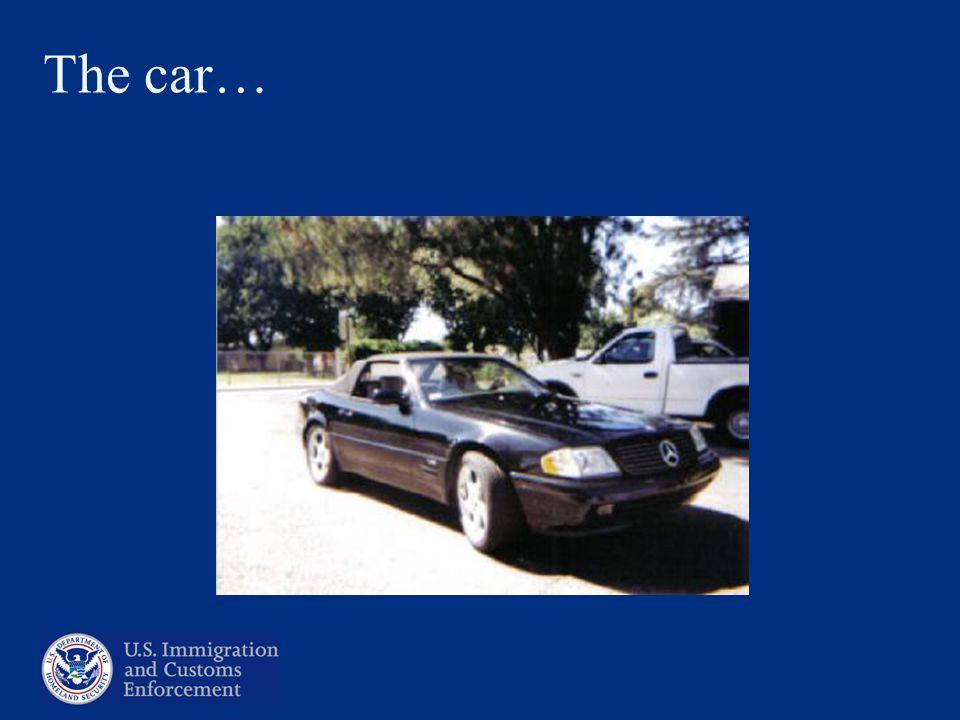 The car…