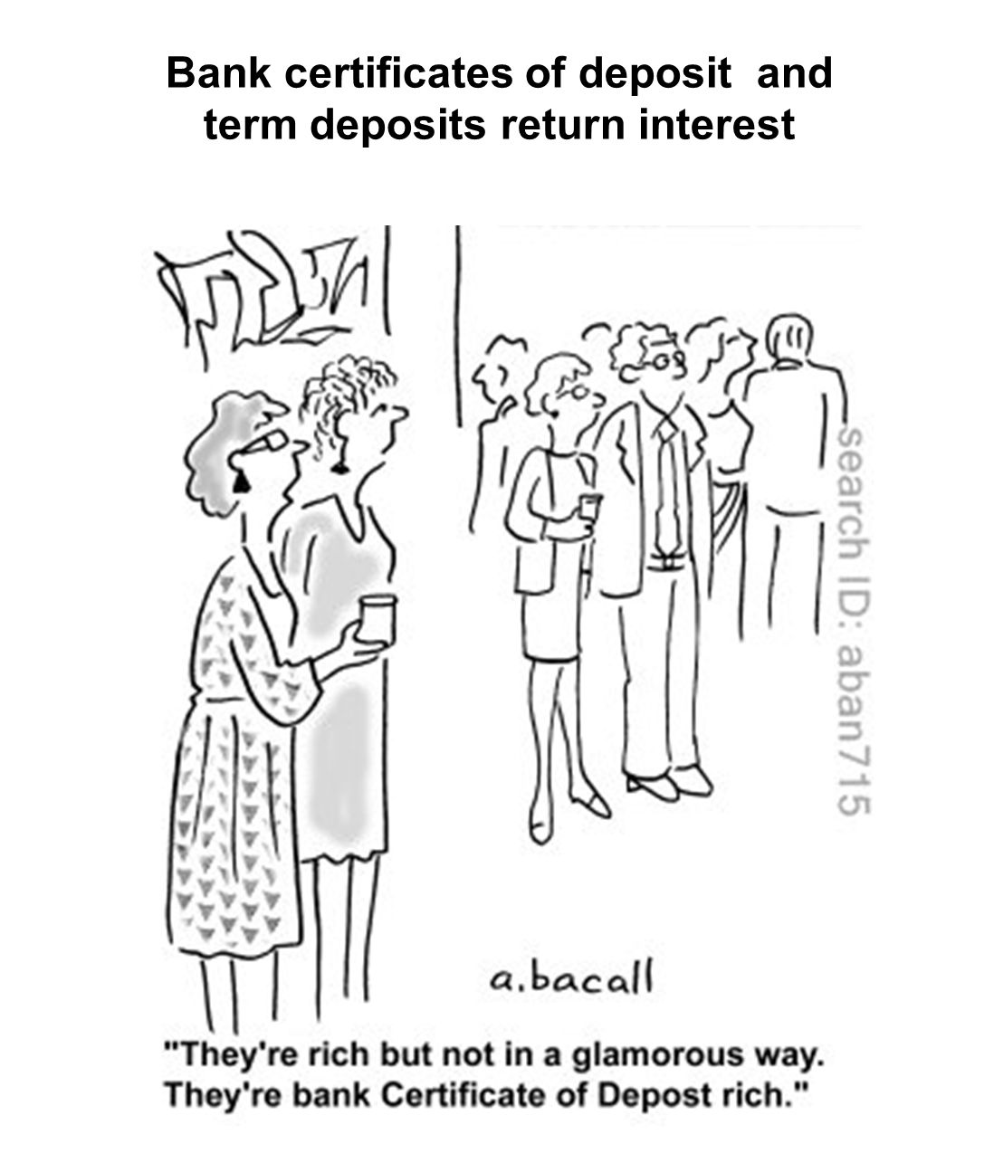 Bank certificates of deposit and term deposits return interest