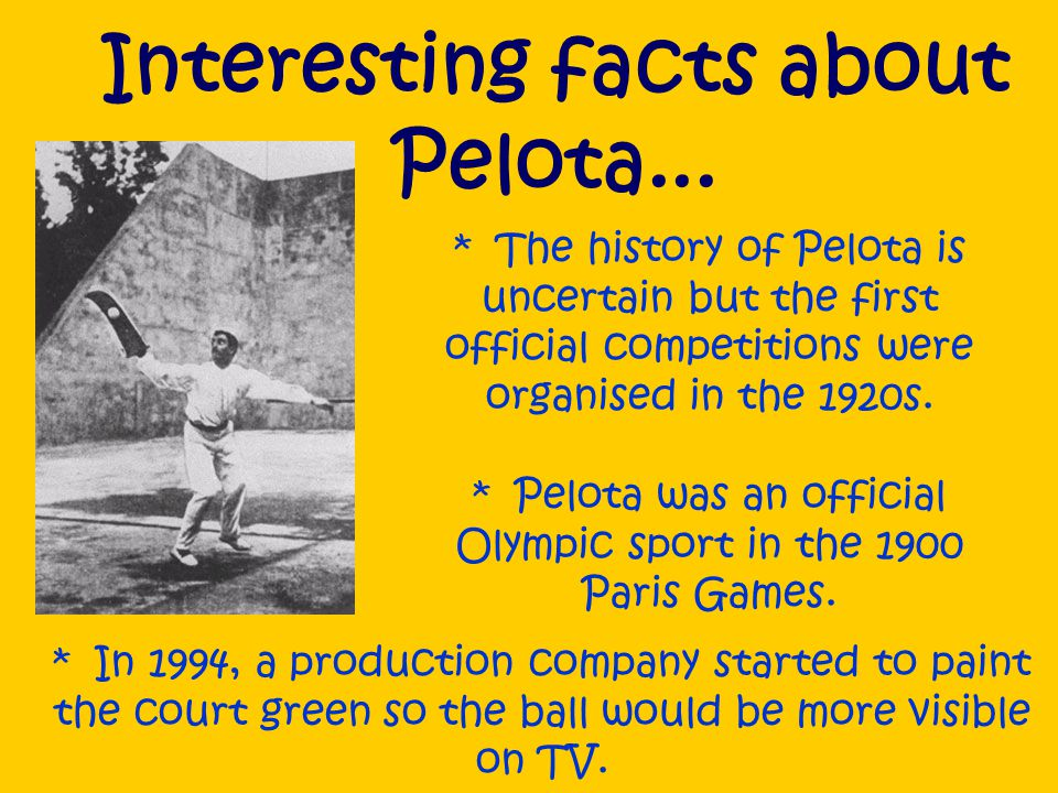 What are the rules of pelota.