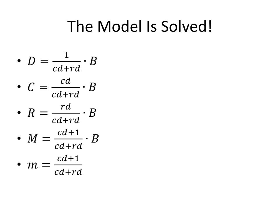 The Model Is Solved!