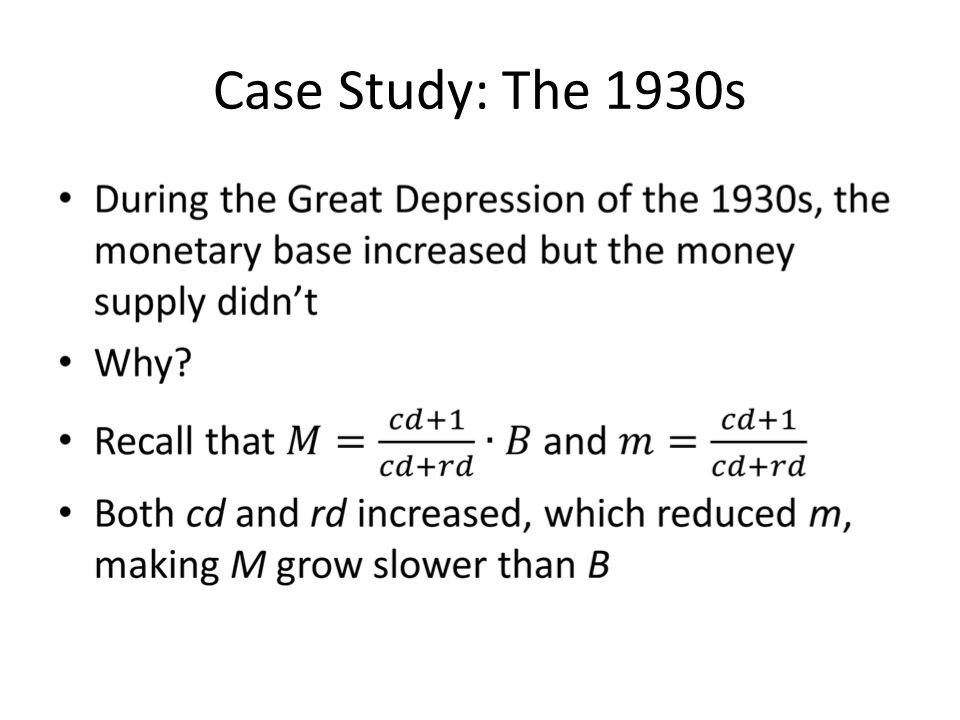 Case Study: The 1930s