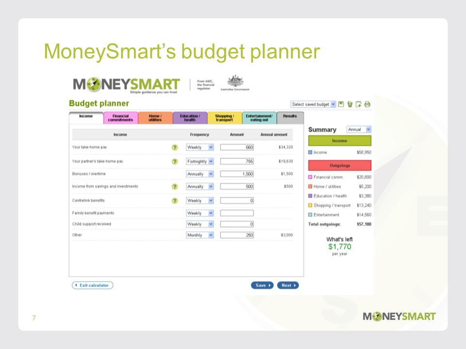 MoneySmarts budget planner 7