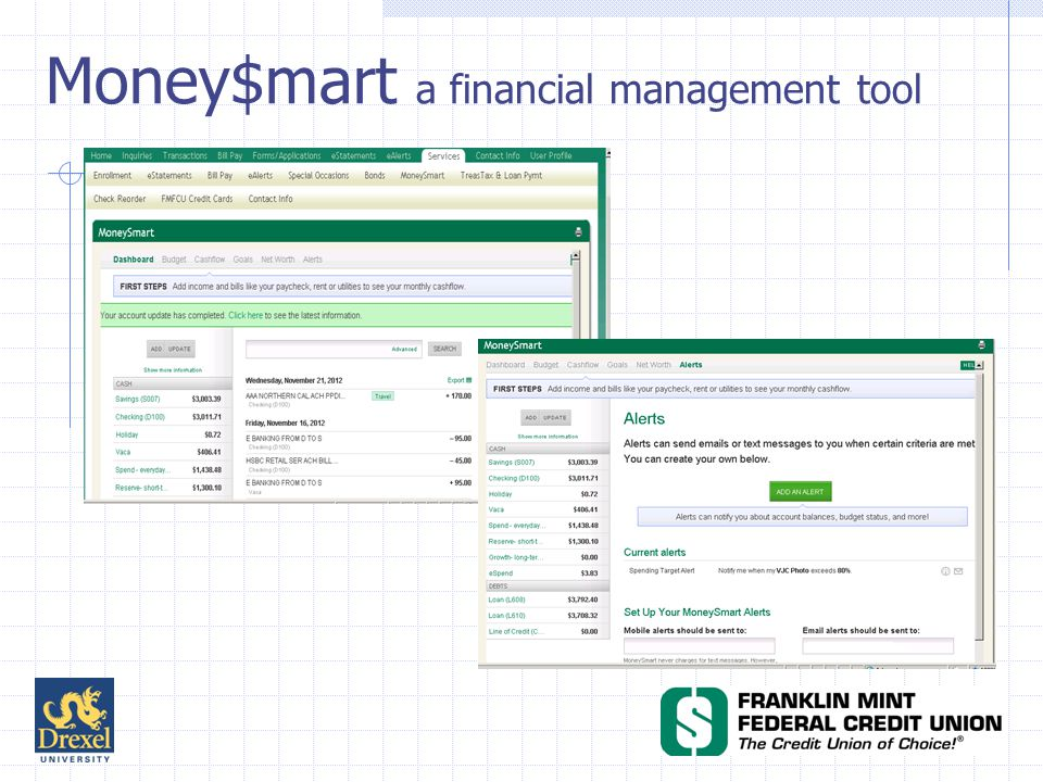Money$mart a financial management tool