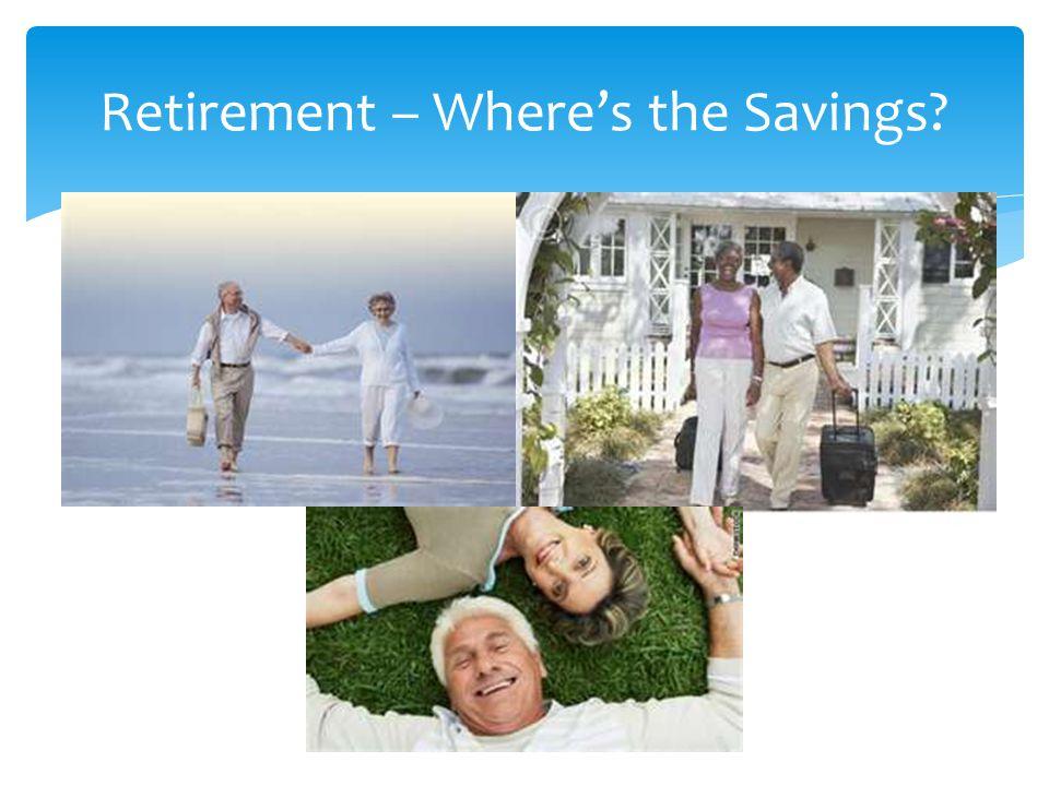 Retirement – Wheres the Savings?