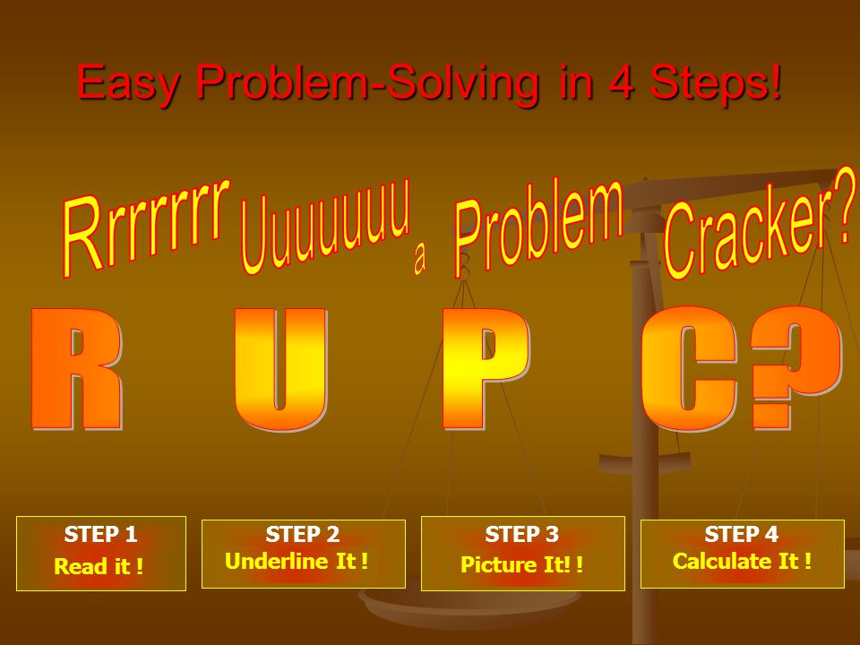 Easy Problem-Solving in 4 Steps. STEP 1 . STEP 2 .