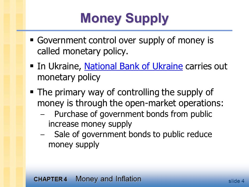 CHAPTER 4 Money and Inflation slide 15 The Quantity Theory of Money, cont.