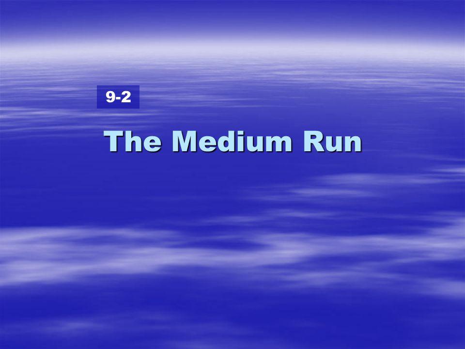 The Medium Run 9-2