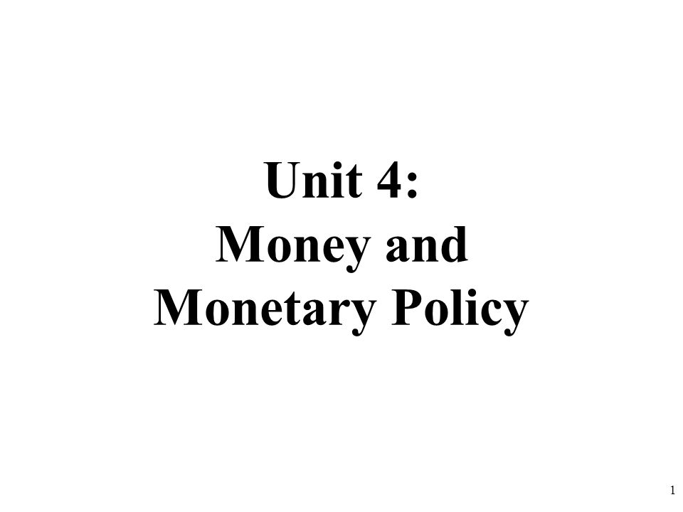 The Money Market (Supply and Demand for Money) 2
