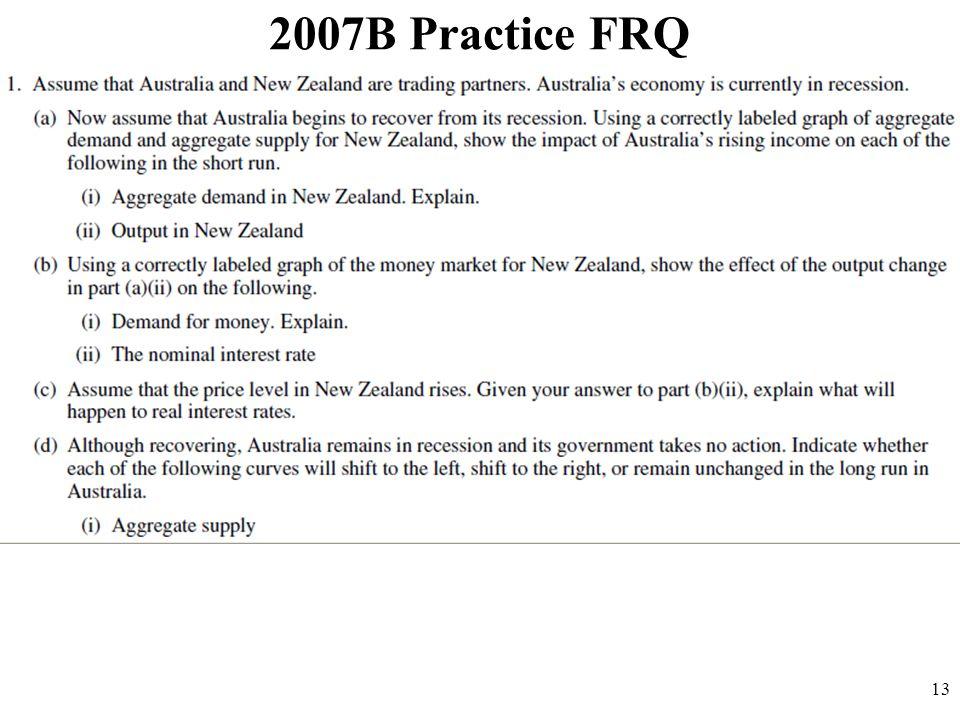 2007B Practice FRQ 13