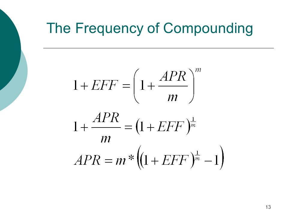 13 The Frequency of Compounding