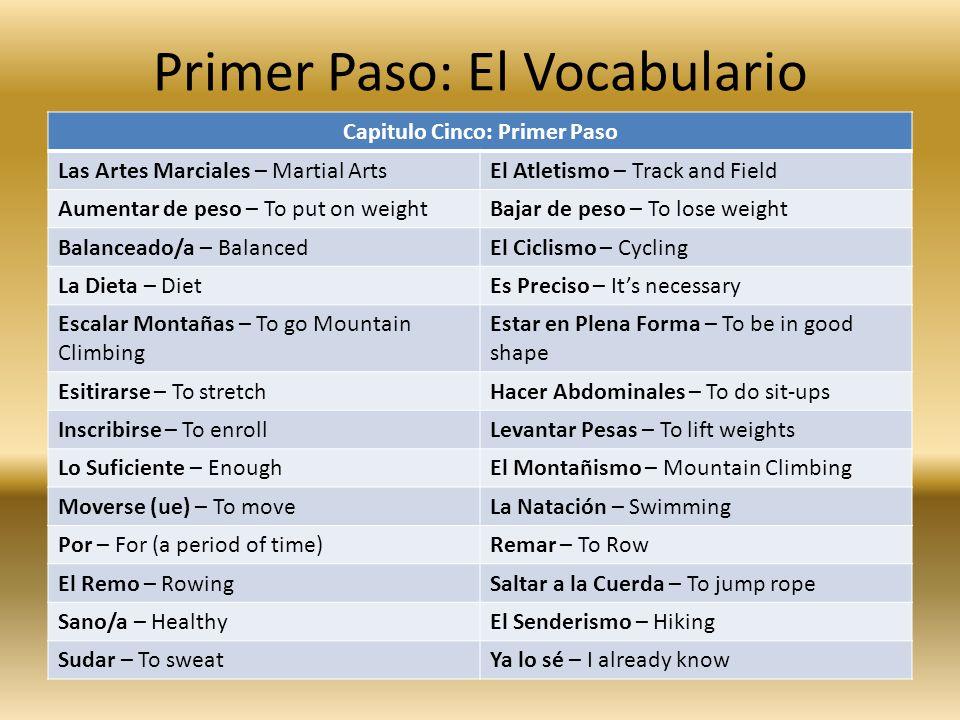 Segundo Paso: La Gramática Commands include dos and donts.