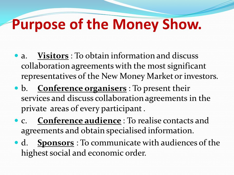 B.CONFERENCES a.for Conference participants to meet with specific speakers in order to discuss collaboration schemes.