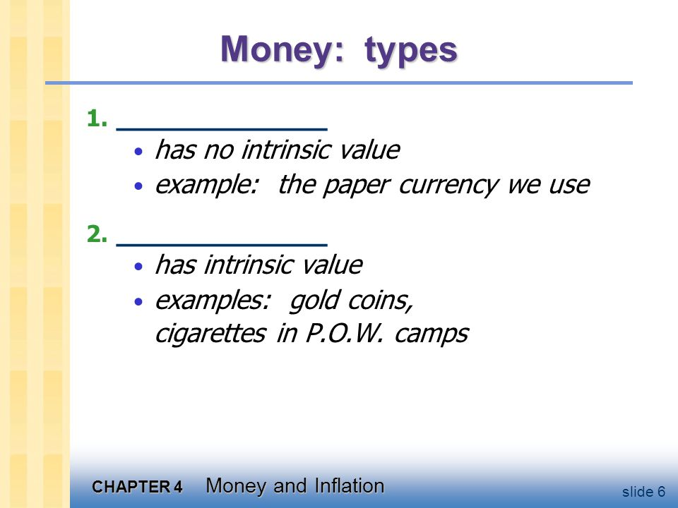 CHAPTER 4 Money and Inflation slide 47 The costs of expected inflation: 2.